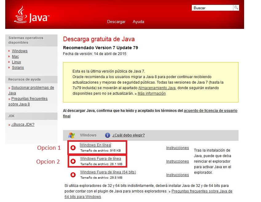 java 7 update 79 descargar gratis