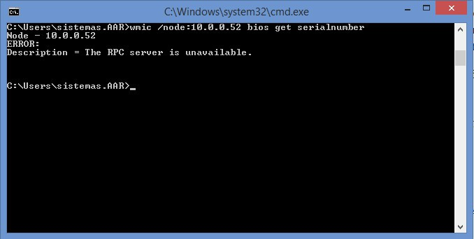 Wmic - Error