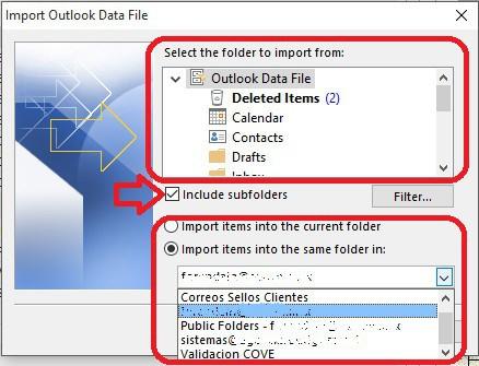 Importar Respaldo de Outlook al Mailbox - 6