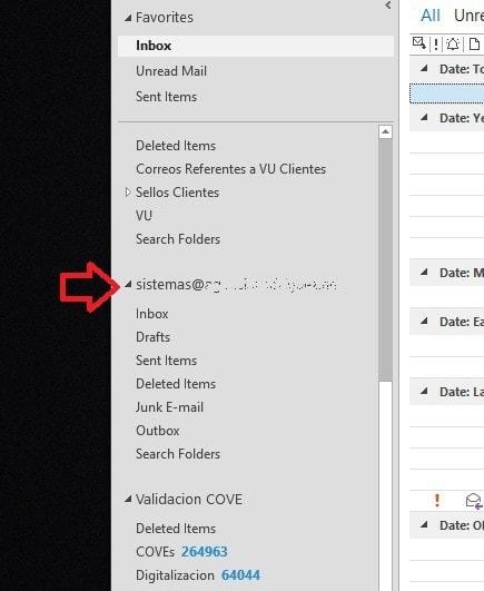 Restablecer respaldo de Outlook (pst) - 5