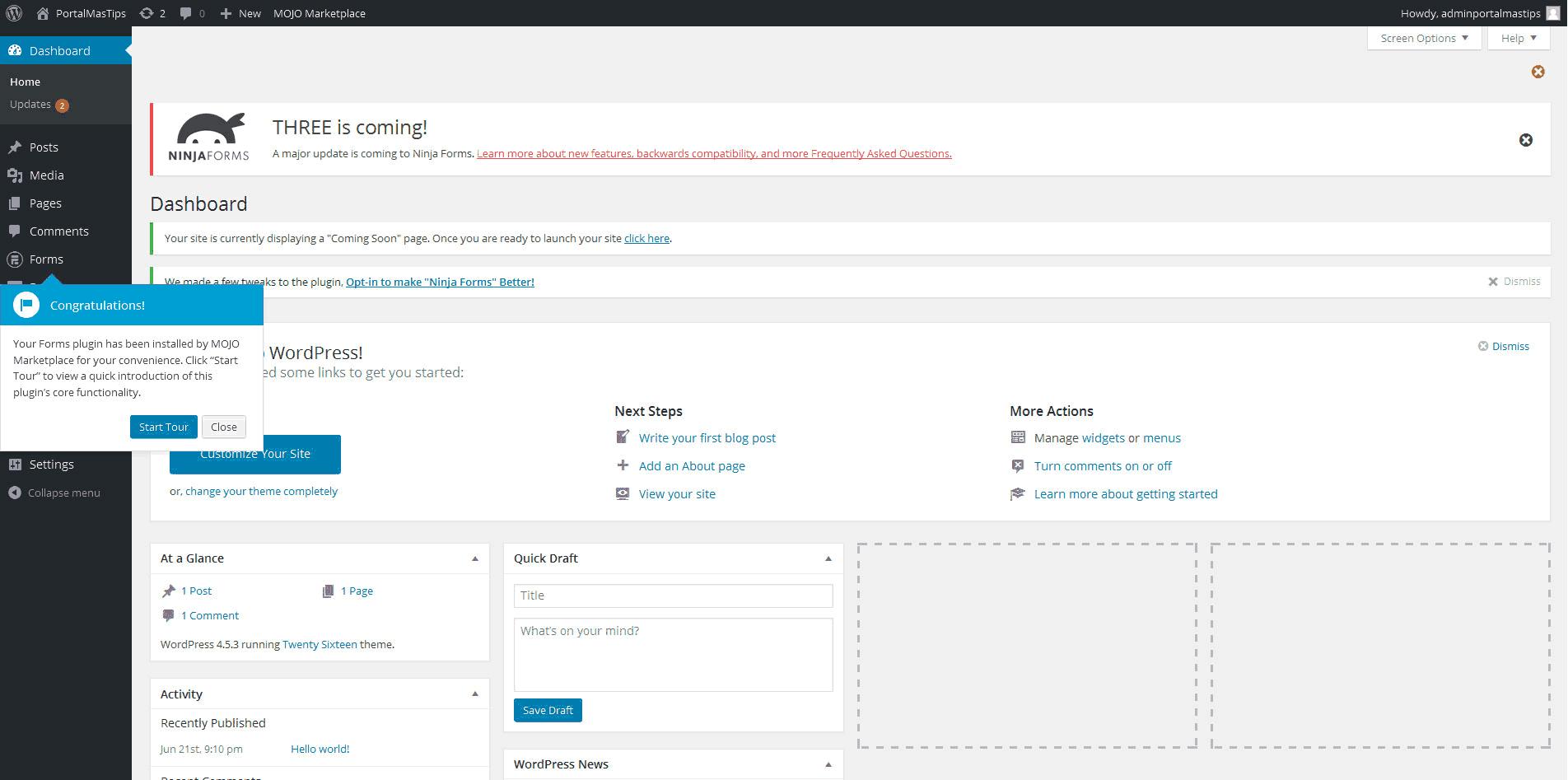hostgator-primera-vista-al-panel-de-administracion-wordpress