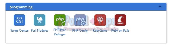 bluehost-cpanel-programming-menu