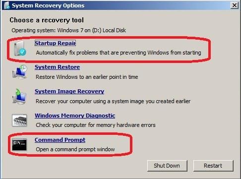 5 windows 7 bootmgr is missing herramienta
