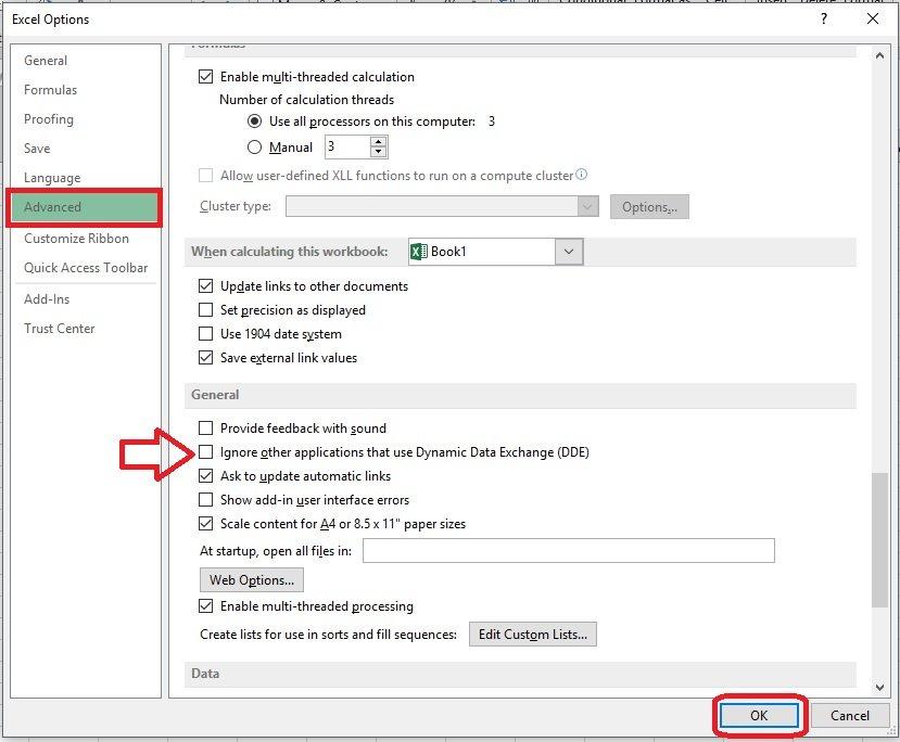 Excel - Error al abrir