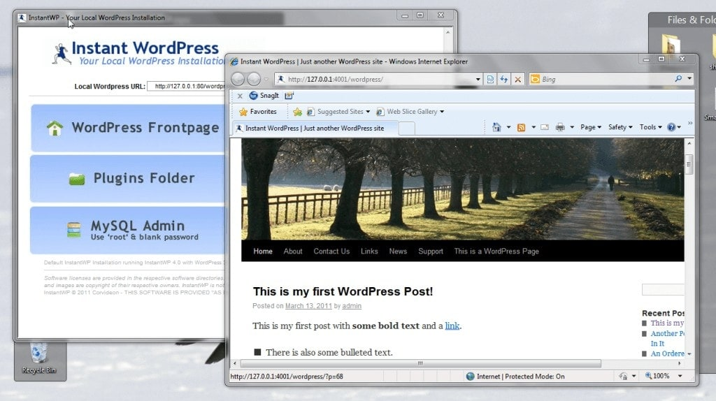 Wordpress - Instalar WordPress localmente (localhost) con Instant WordPress 1