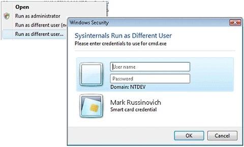 Habilitar opción ejecutar como otro usuario en Windows