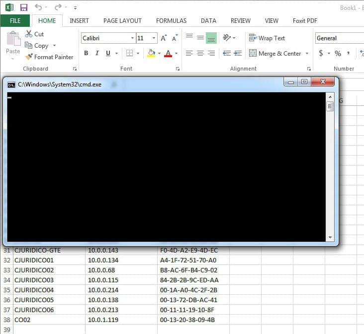 VBScript - Crear inventario de red local automático en Excel 3