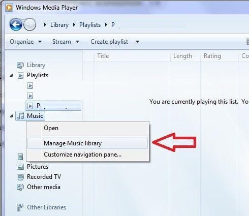 WMP - Error (Library Files Show Unresponsive) en la librería de música 2