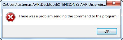 Solución - Excel error There was a problem sending the command to the program