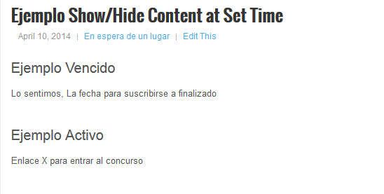 Show-Hide Content at Set Time