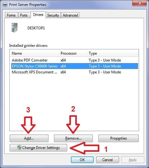 Reinstalar, eliminar o actualizar driver de impresora manualmente en Windows 7 6