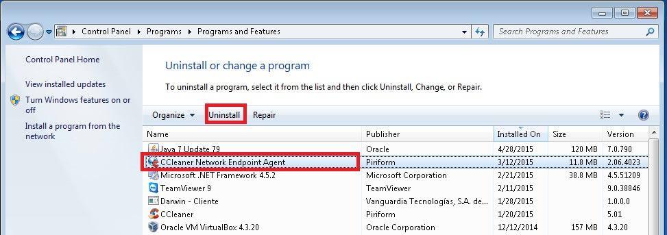 Select Program - Windows 7a