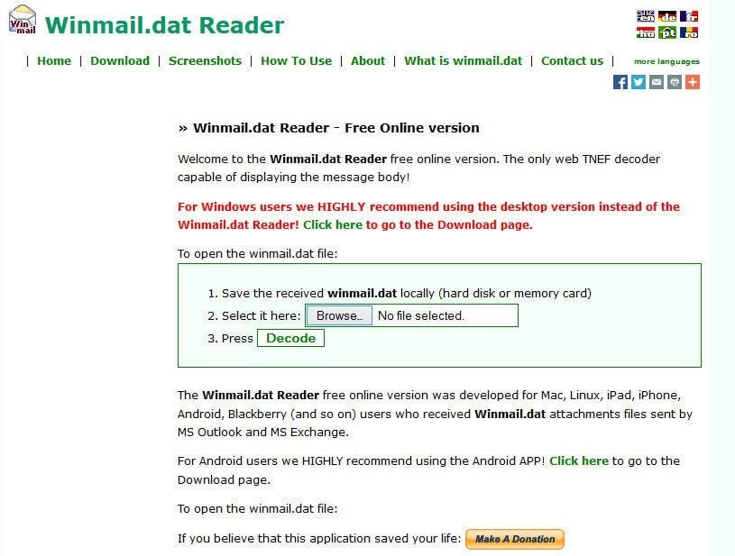 Winmail.dat Reader Online