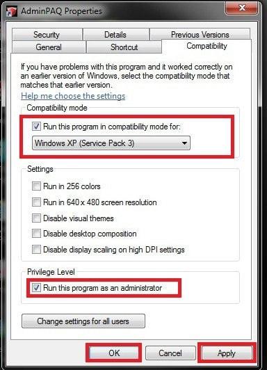 AdminPAQ Propiedades - Solución a error Win32 Error. Code:8.