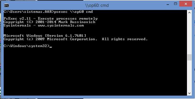 Ejecutar comando remotamente - PsExec