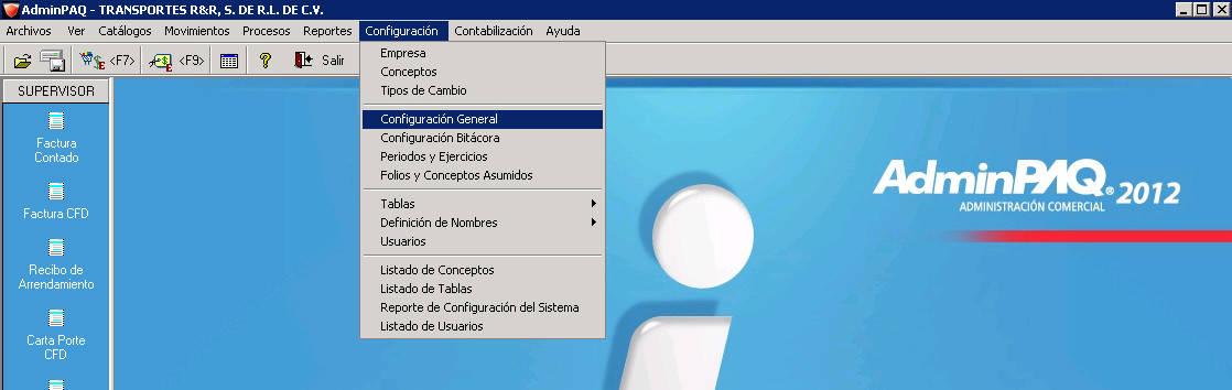 AdminPaq - Configuracion - Configuracion General - Escribir símbolos en RFC CURP en AdminPaq