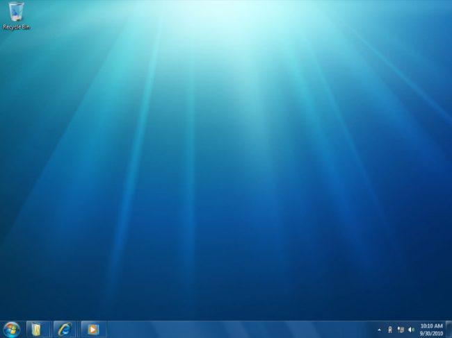 Muestra de vista de Windows 7