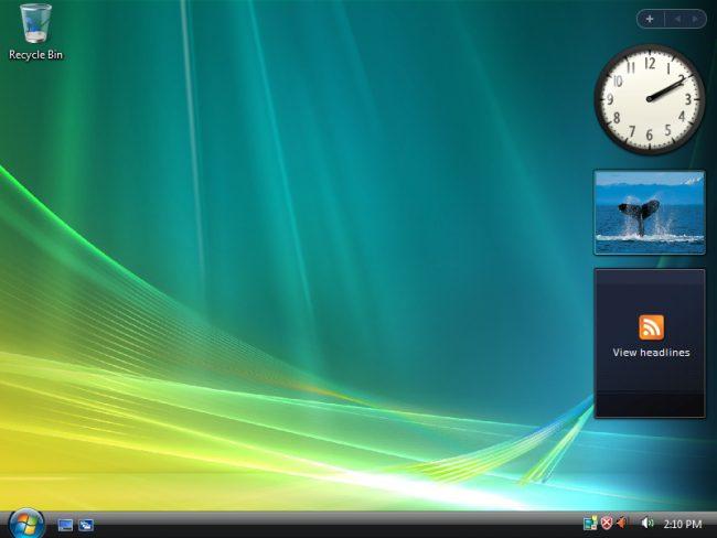 Muestra de vista de Windows Vista