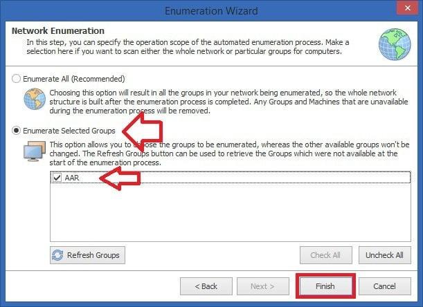 Software Scanner - Asistente Seleccionar Grupo