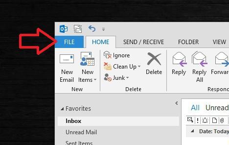 Importar Respaldo de Outlook al Mailbox - 1
