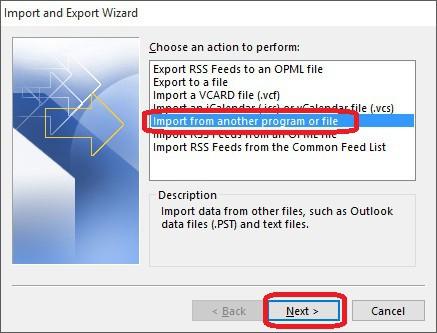 Importar Respaldo de Outlook al Mailbox - 3