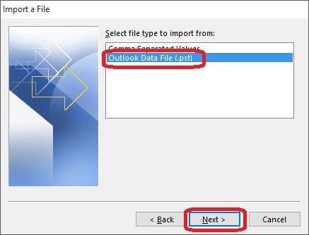 Importar Respaldo de Outlook al Mailbox - 4