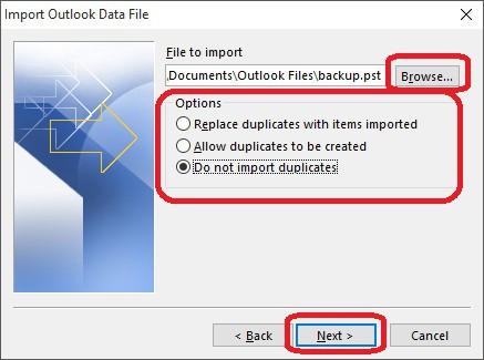 Importar Respaldo de Outlook al Mailbox - 5
