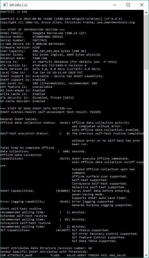 Revisar temperatura, tiempo de vida, estado del disco duro (HDD/SSD), etc... 3