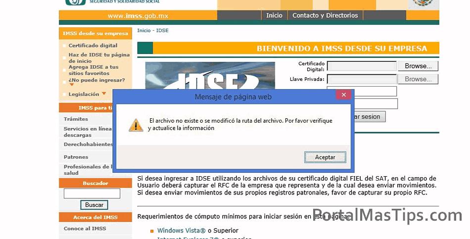 Error IDSE - El Archivo no Existe o se Modificó la Ruta del Archivo 8