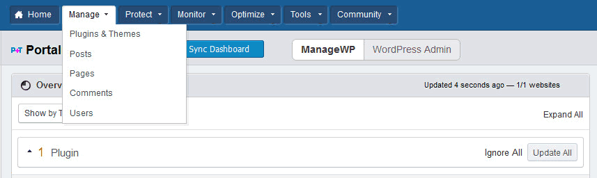 bluehost-managewp-manage
