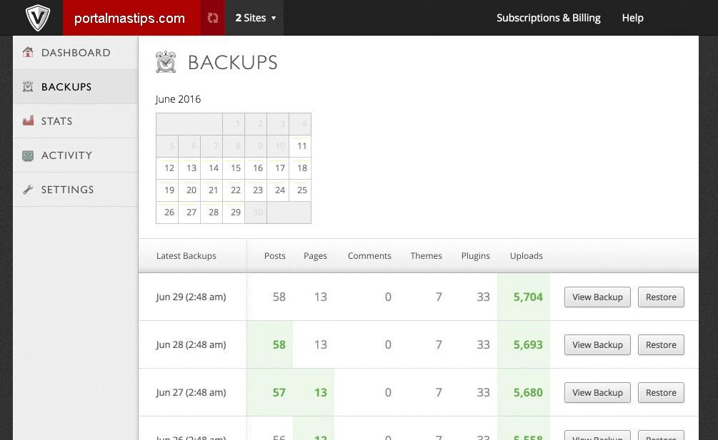 vaulpress-backup-calendario