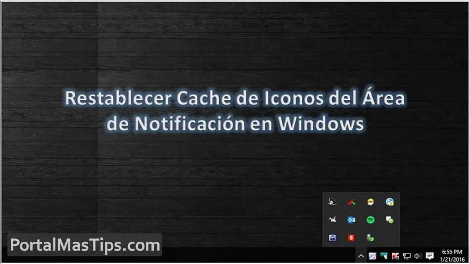 Restablecer Cache de Iconos del Area de Notificación en Windows 8