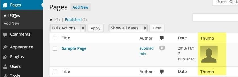 Wordpress - Agregar Columna de Imagen Destacada en listado de entradas 5