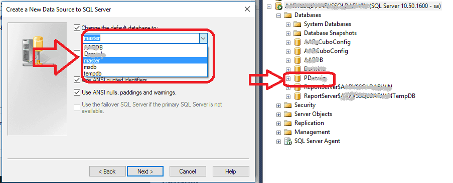 ODBC - Mi base de datos no aparece en el listado de bases de datos a seleccionar 2