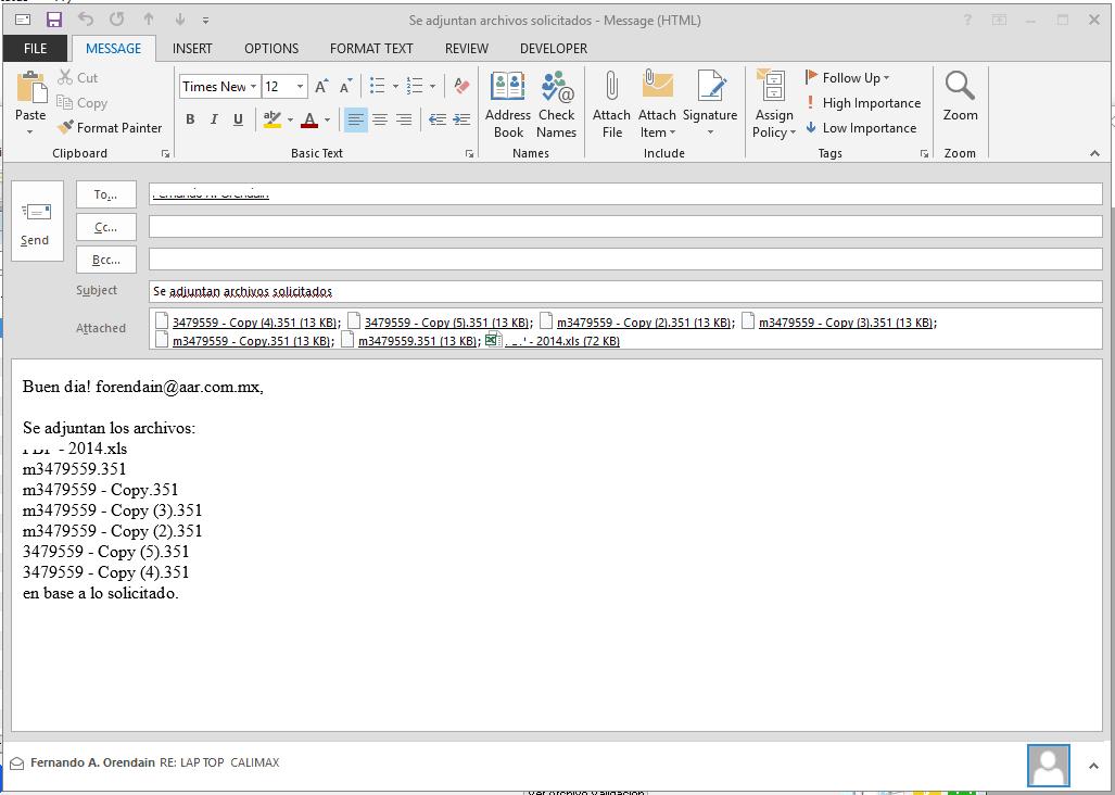 VBScript - Adjuntar archivos automáticamente y enviar correo Outlook 4