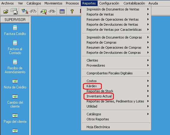 AdminPAQ - Verificarla información del inventarioreporteexistencias del almacén 1