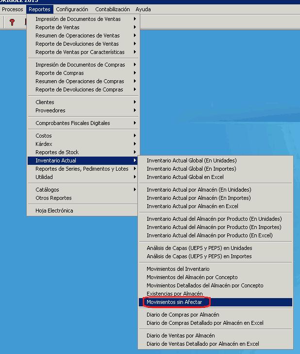 AdminPAQ - ReporteMovimientos sin Afectar - Verificar informacion - AdminPAQ Reportes Sin Afectar