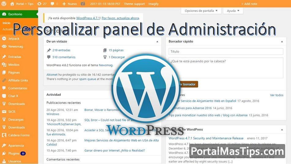 Wordpress - Como personalizar esquema de colores del panel administrador. 13