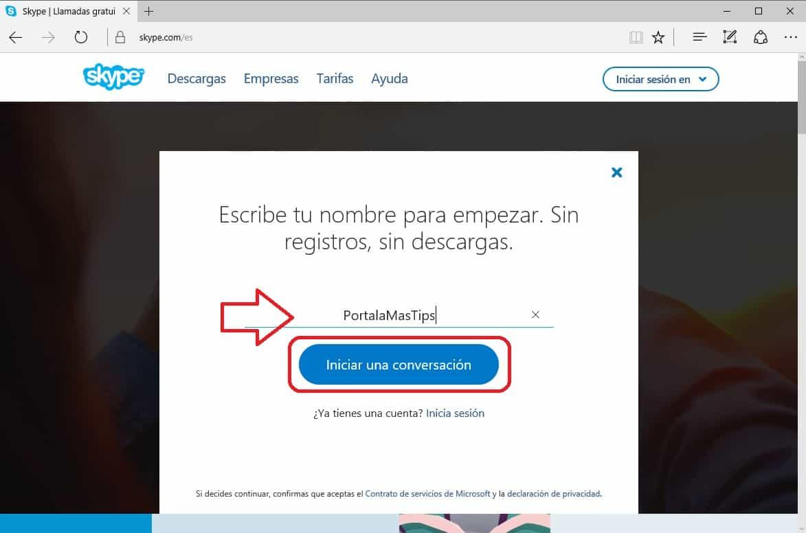Skype sin cuenta nombre2