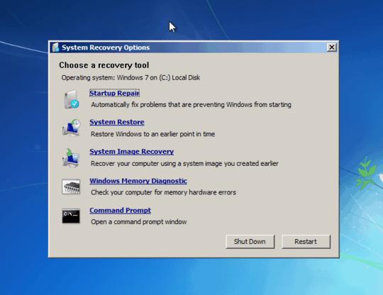 Windows 7 crear disco de recuperacion opcion