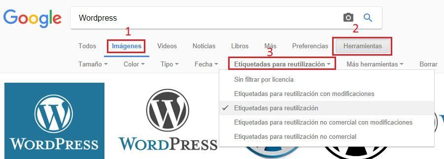 Busqueda de imagenes con licencia google espanol