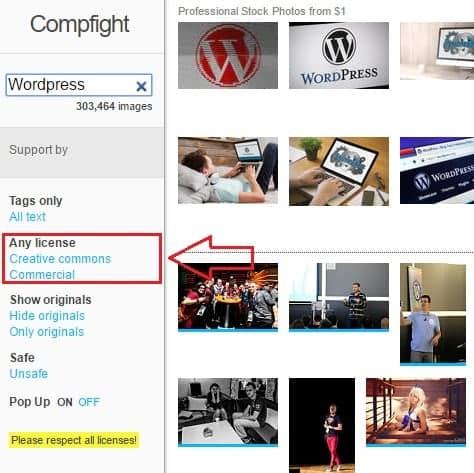Busqueda de imagenes en compfight