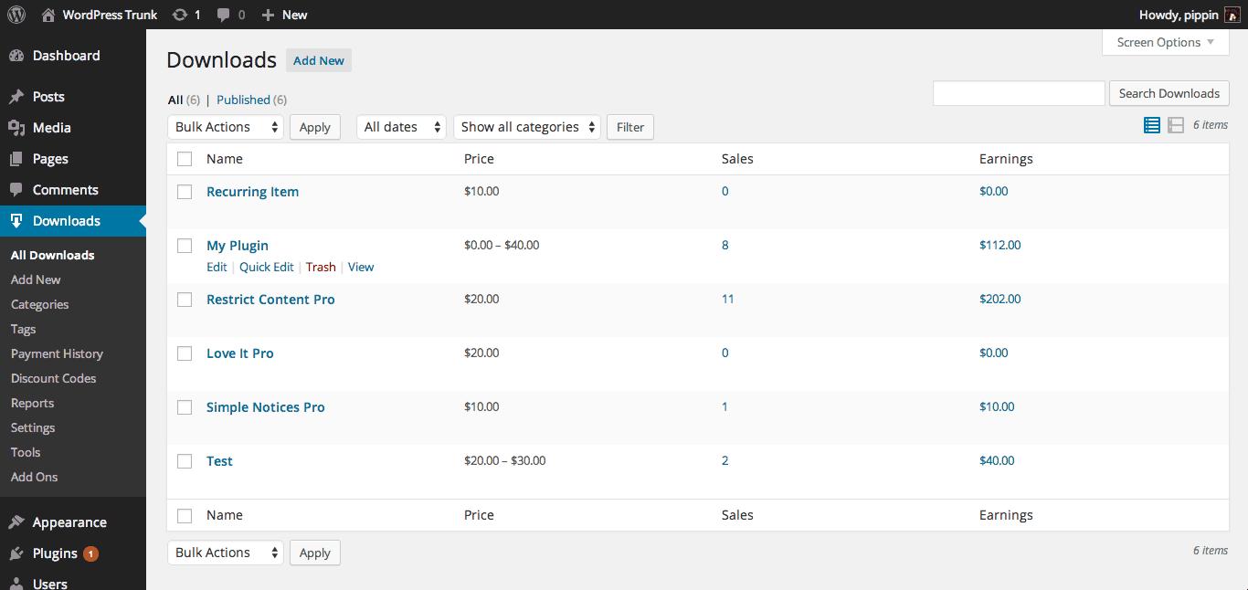 Easy digital downloads archivos de venta a descargar