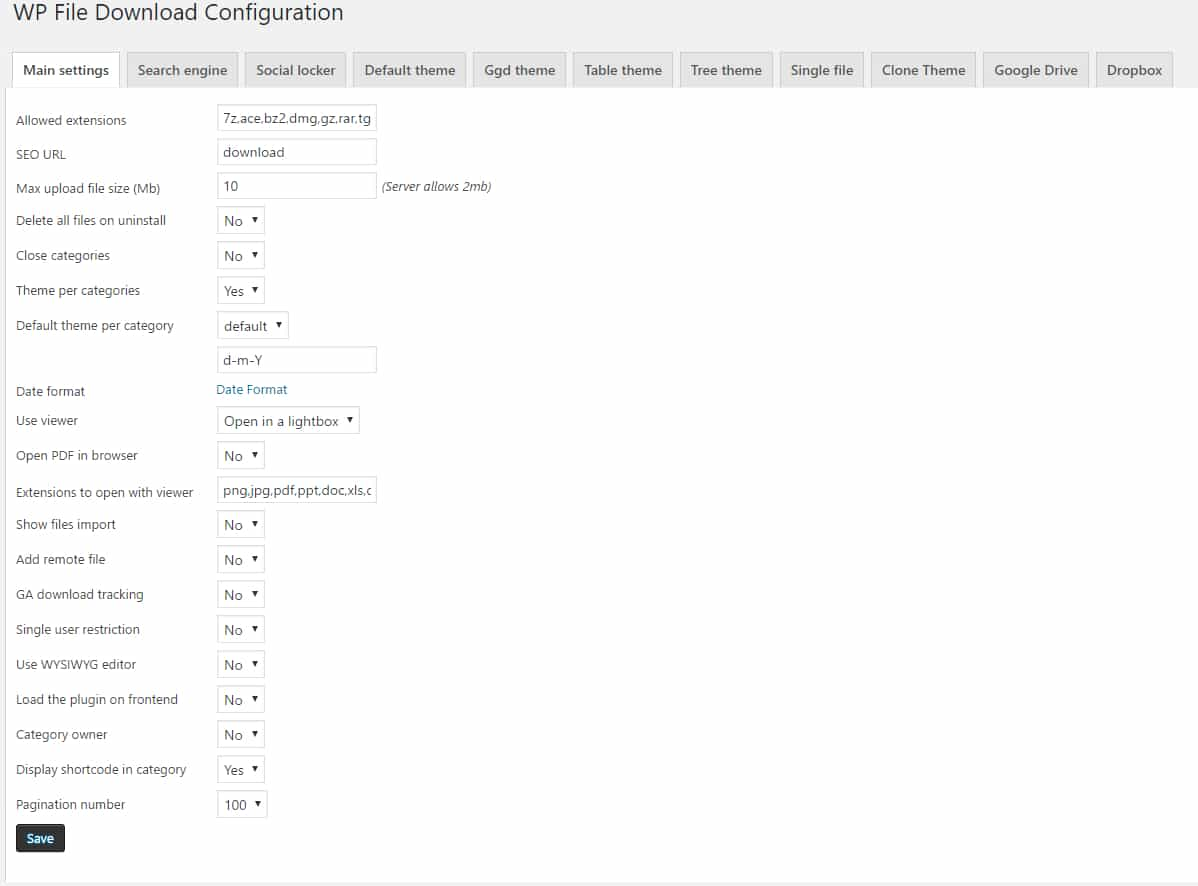 Wp file download joomunited 5 configuracion principal