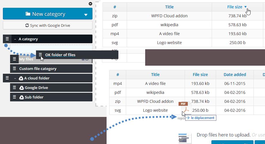 Wp file download joomunited ejemplo ordenar 1