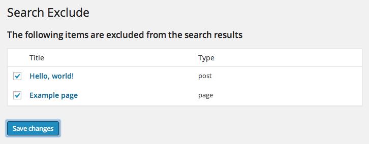 Wordpress excluir resultados de busqueda plugin 2
