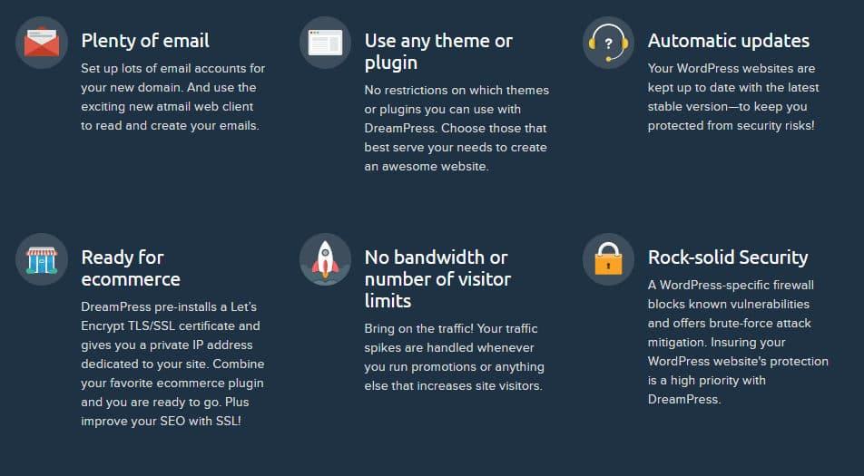 Dreampress mejor hosting administrado caracteristicas
