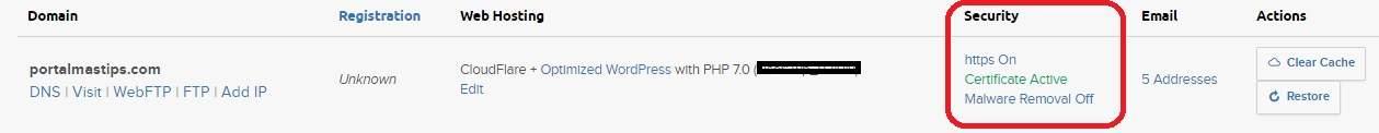 Dreampress mejor hosting administrado dominio activar certificado