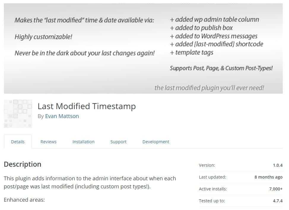 Last modified timestamp - agregar fecha de ultima modificación