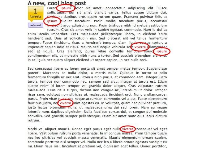 Pretty link lite opcion de remplazar palabras por enlace